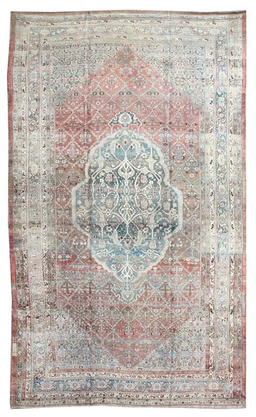 Antique Bijar Handwoven Tribal Rug