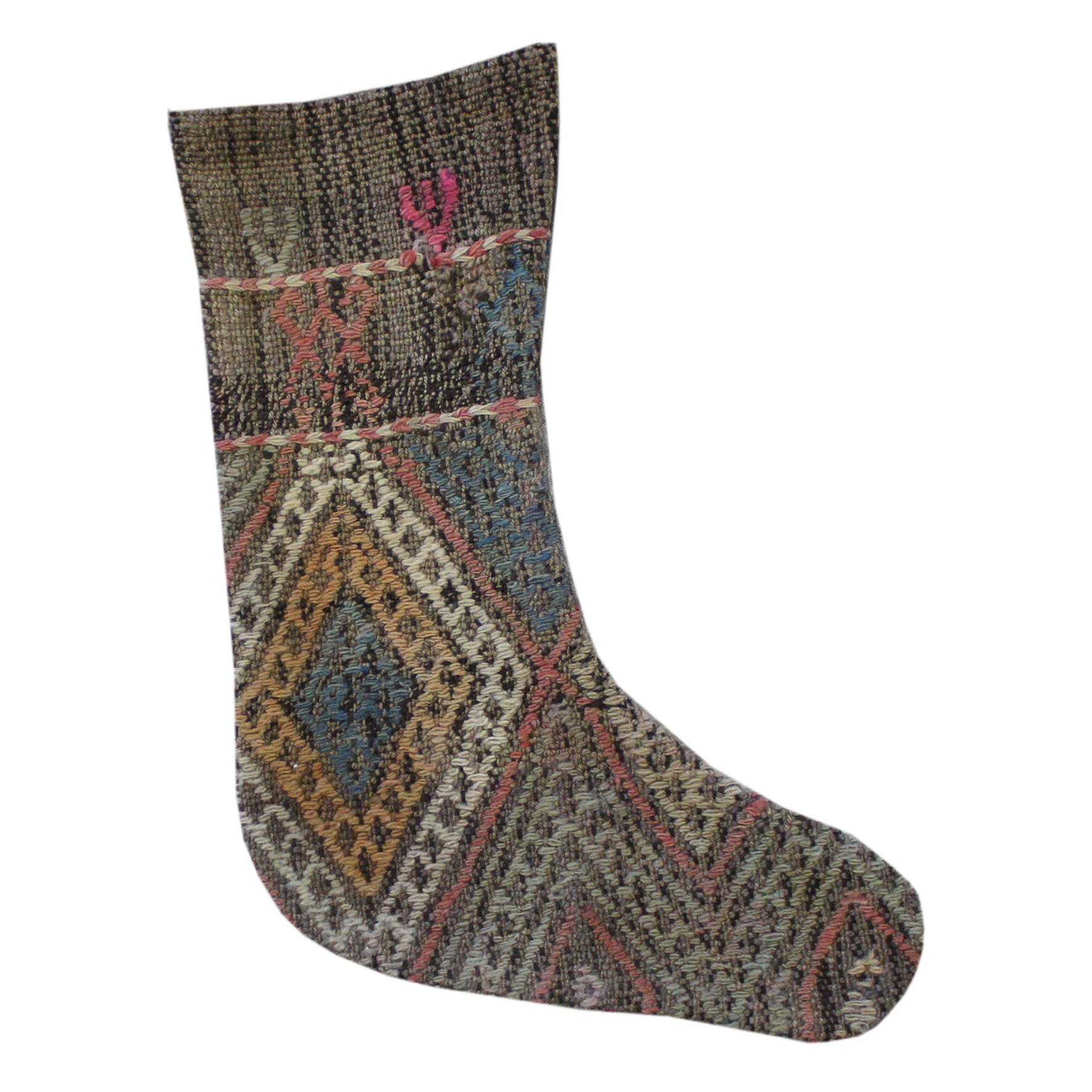 Vintage Kilim Decorative Stocking