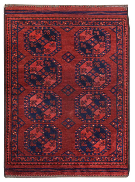 Antique Ersari Handwoven Tribal Rug