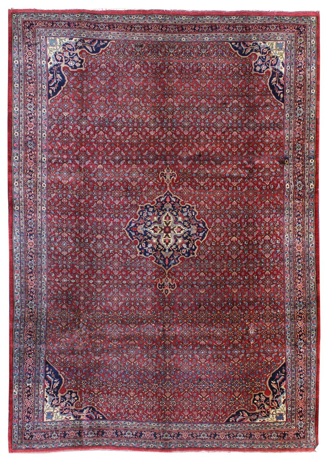 Antique Halvai Bijar Handwoven Tribal Rug