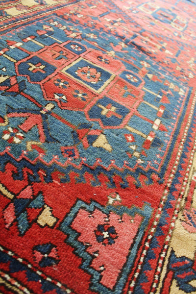 Antique Heriz Handwoven Tribal Rug