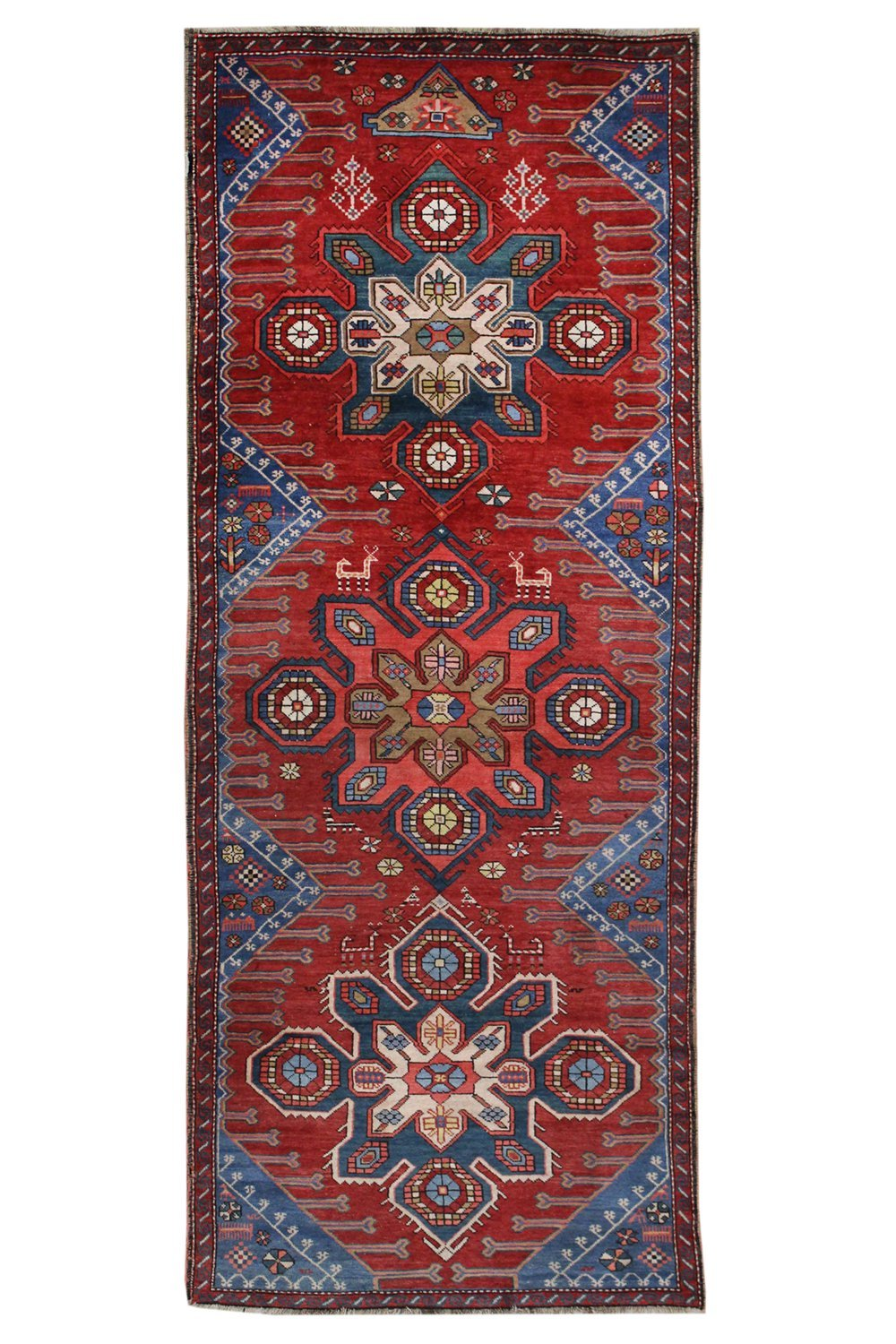 Antique Karabagh Handwoven Tribal Rug