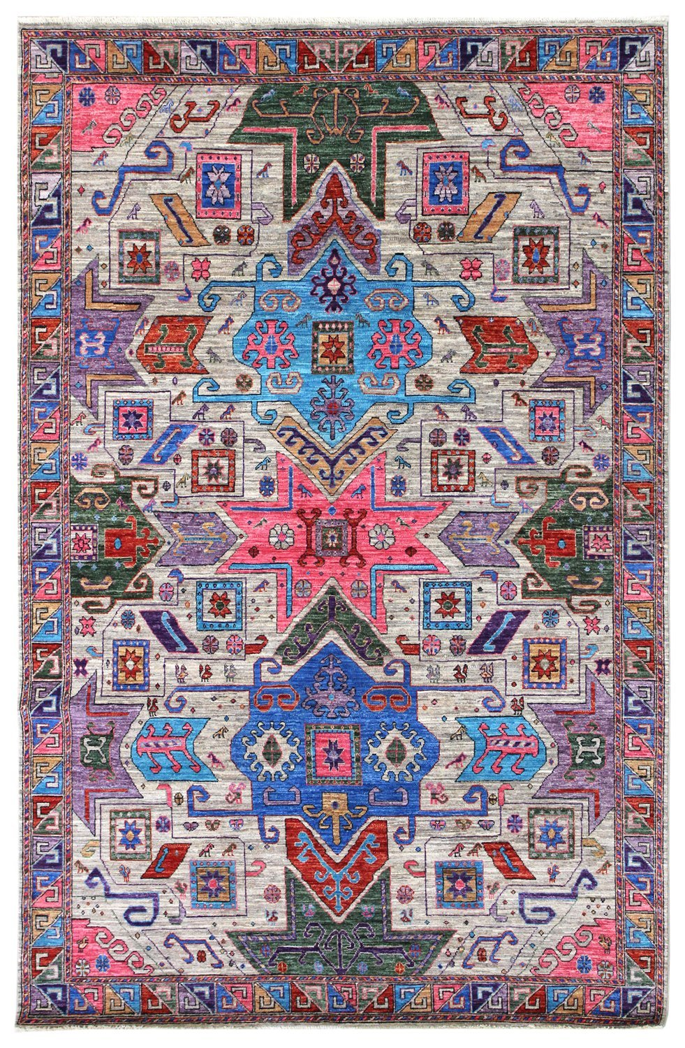 Star Kazak Handwoven Tribal Rug