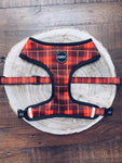 Country Tartan Dog Harness (front)