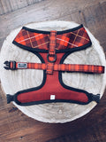 Country Tartan Dog Harness (reverse)