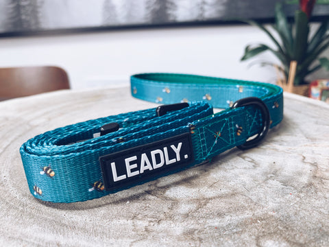 Blue Bumble Bee Comfort Dog Lead (product)