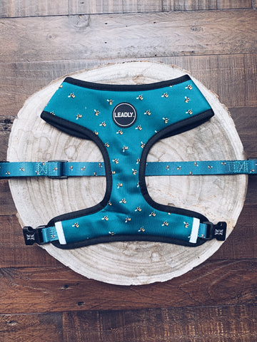Blue Bumble Bee Harness (front)