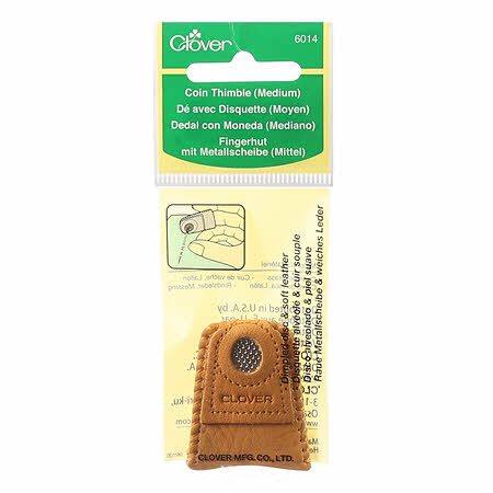 Clover Leather Coin Thimble - Medium
