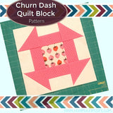 Churn Dash Quilt Block Pattern - WP Product Image