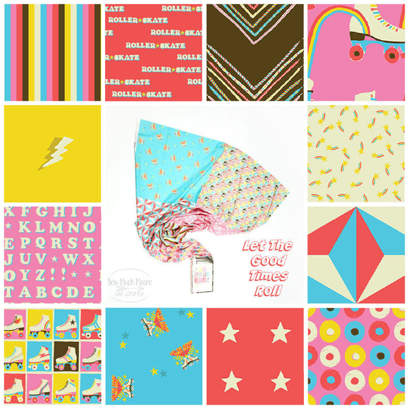 LET THE GOOD TIMES ROLL Fat Quarter Bundle Flat Stack