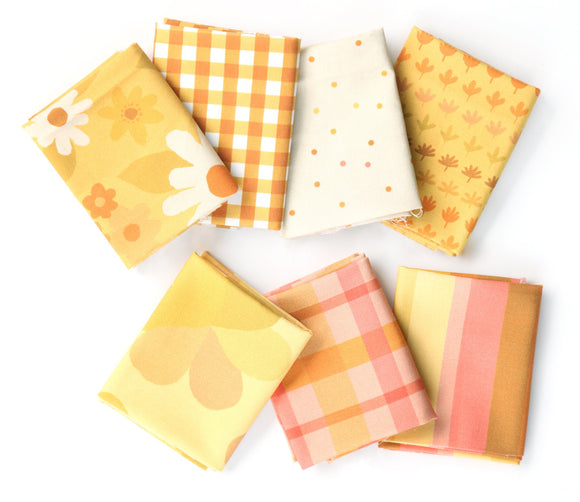 Flower Market Fat Quarter Bundle - Marigold