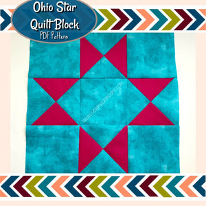 Ohio Star Quilt Block Pattern image