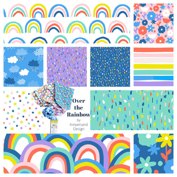 Over The Rainbow Fat Quarter Bundle Flat Stack (Bright)