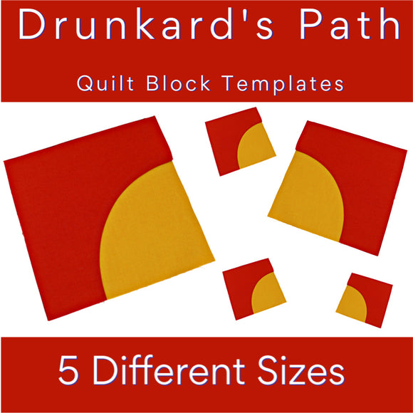 Drunkard's Path Quilt Block Pattern