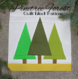 Pinetree Forest Quilt Block Pattern