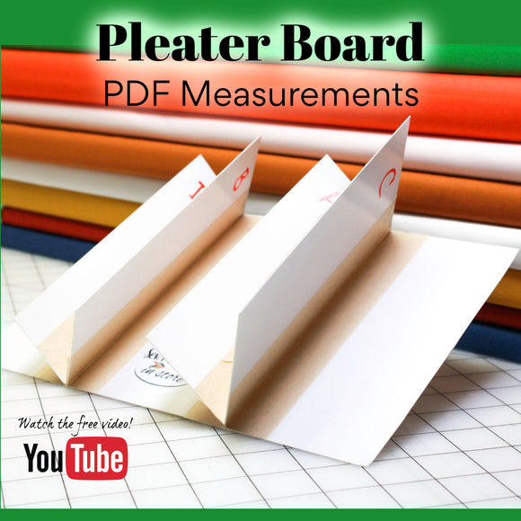 Pleater Board Measurements PDF