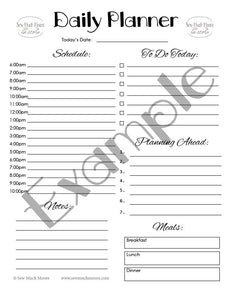 Daily Planner PDF Printable