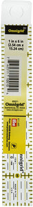"Omnigrid R1 1 6-Inch Ruler, 1"" x 6"", Yellow"