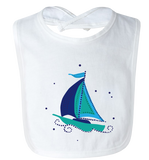 Sailboat - Baby Jersey Bib