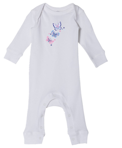 Pink Butterfly - Baby Romper