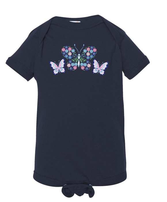 Blue Butterfly - Baby Onesie