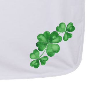 Three Clovers - Baby Jersey Blanket