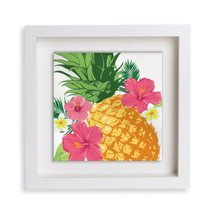 Tropical Pineapple Happy Frame