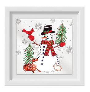 Snowman Happy Frame