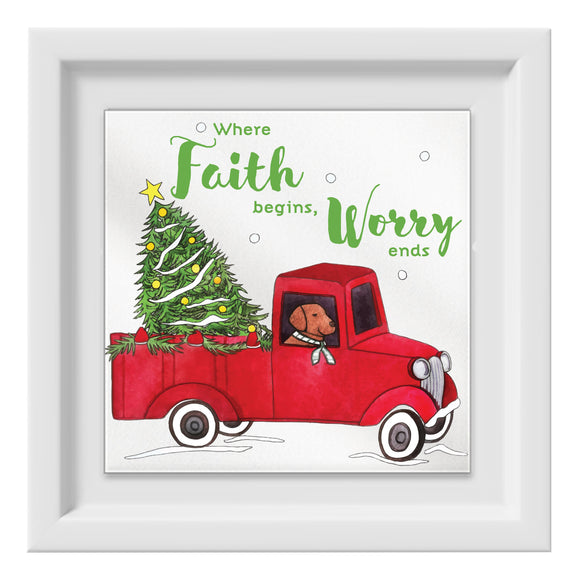 Christmas Truck Happy Frame