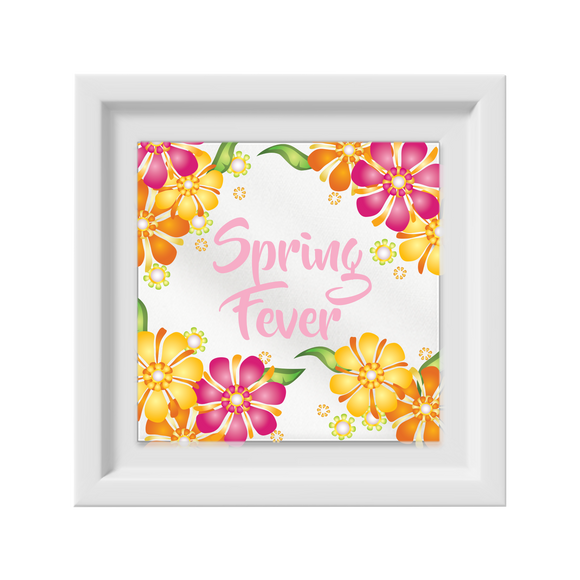 Spring Fever Happy Frame