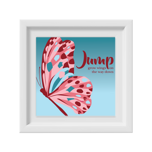 Spring Butterfly Happy Frame