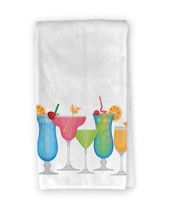 Tropical Drinks Kitchen Towel