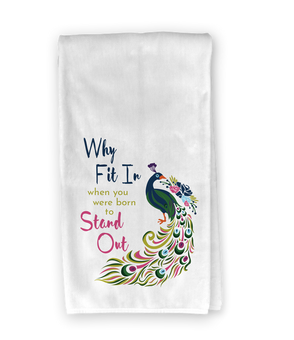 Peacock Stand Out Kitchen Towel