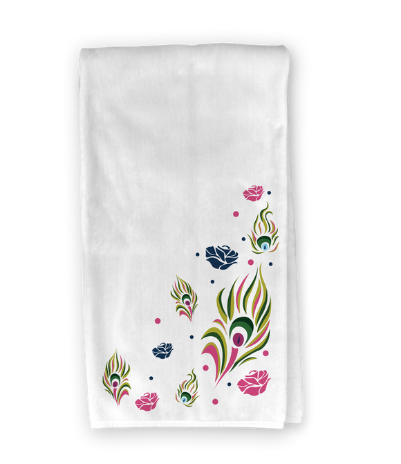 Peacock Feathers Kitchen Towel
