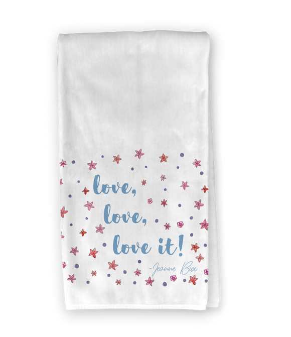 Floral Bicycle Love, Love, Love It Kitchen Towel