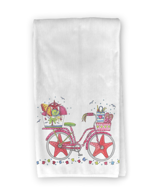 Beach Bicycle Kitchen Towel