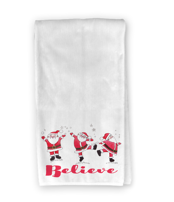 Dancing Santas Kitchen Towel
