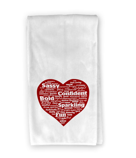 Word Heart Kitchen Towel