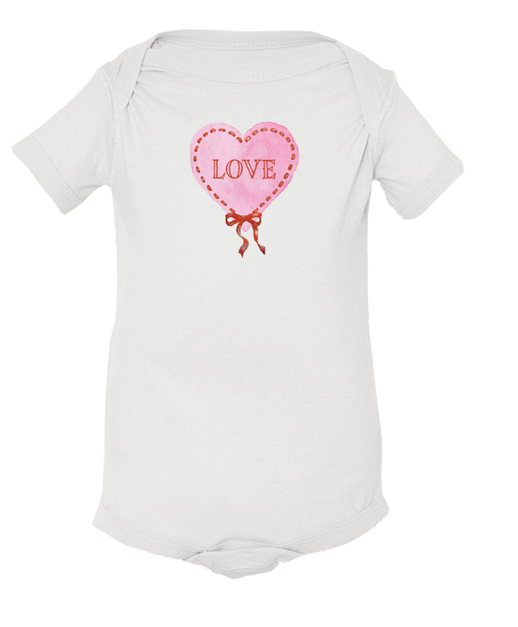 Ribbon Heart - Baby Onesie