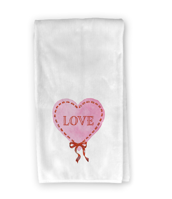 Ribbon Heart Kitchen Towel