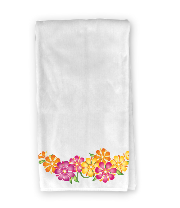 Spring Flower Ribbon Kitchen Towel