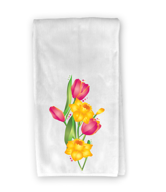 Spring Flower Kitchen Towel