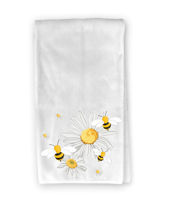 Daisies & Bees Kitchen Towel