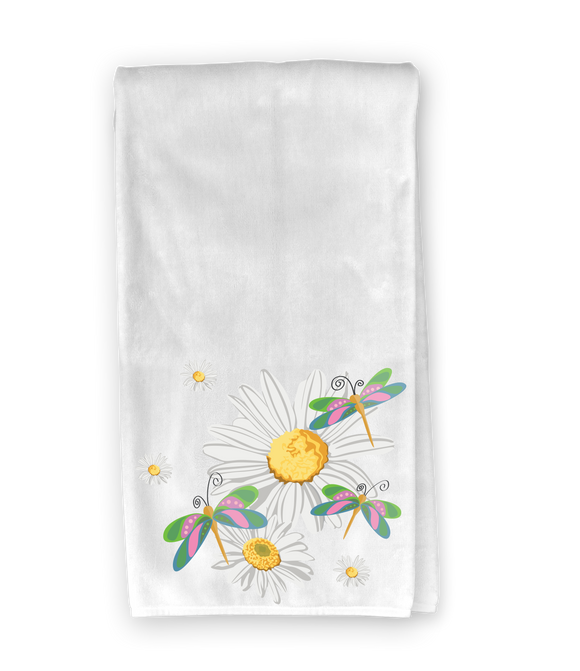 Daisies & Dragonflies Kitchen Towel