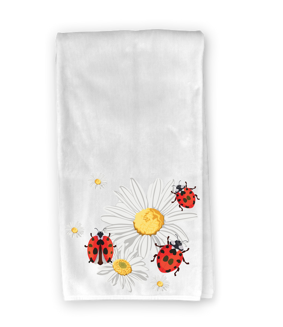 Daisies & Lady Bugs Kitchen Towel