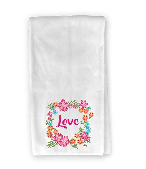 Flower Love Kitchen Towel