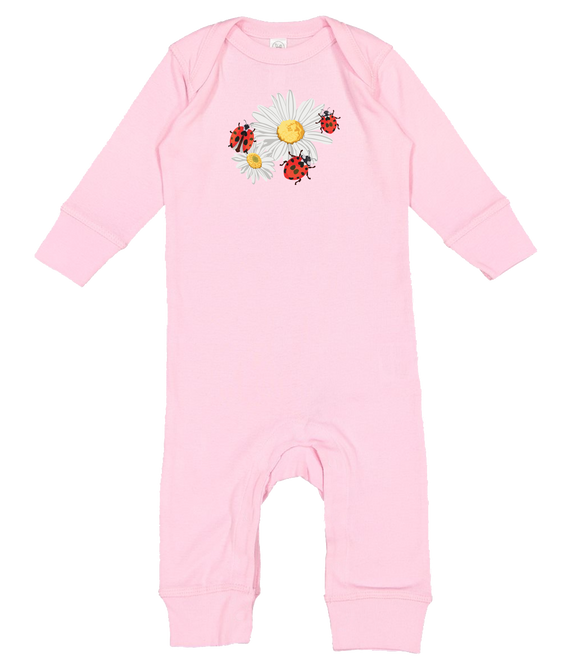 Daisies & Lady Bugs - Baby Romper