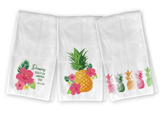 Tropical Pineapple Kitchen Towel Set - Save 23%