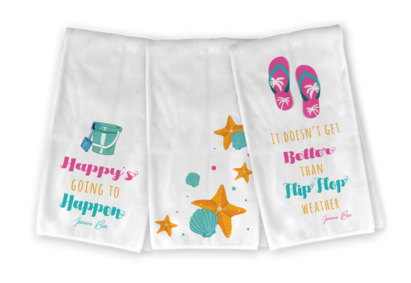Beach Kitchen Towel Set - Save 23%