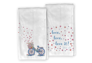 Floral Bicycle Kitchen Towel Set - Save 15%